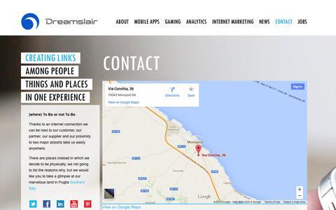 Screenshot of Contact Page dreamslair.com - Contact | Dreamslair - captured Oct. 5, 2014