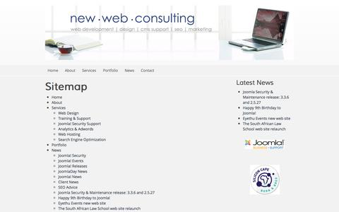 Screenshot of Site Map Page new-web-consulting.co.za - Sitemap - New Web Consulting - captured Oct. 7, 2014