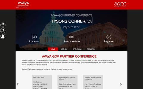 Screenshot of Landing Page avaya.com - Avaya - AGPC - captured Sept. 6, 2016