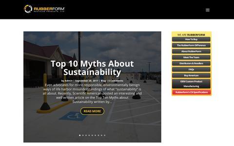Screenshot of Blog rubberform.com - RubberForm Blog | RubberForm® Recycled Products, LLC. - captured Sept. 26, 2018