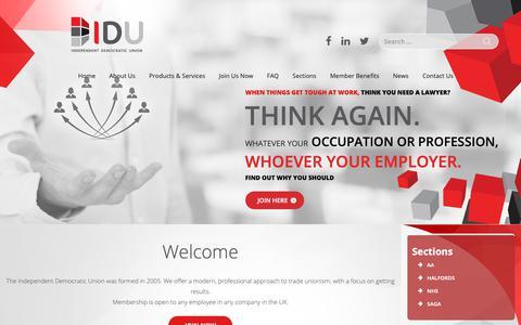 Screenshot of Home Page idu.org.uk - IDU - captured Nov. 12, 2018
