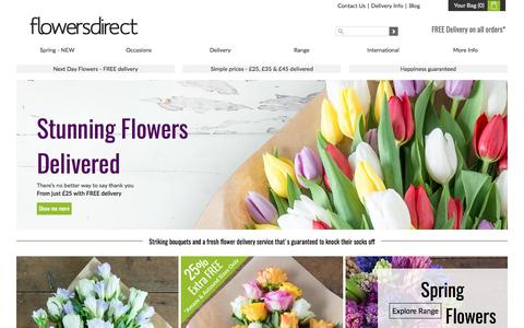 Flowers Delivered. Send Flowers Online with FREE UK Delivery at Flowers Direct