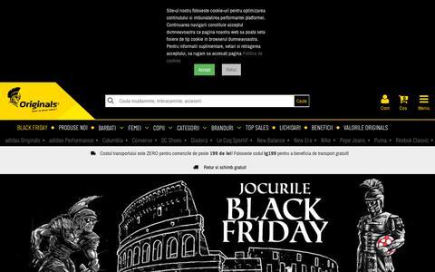 Screenshot of Home Page originals.ro - Originals - Start to dress smart - captured Nov. 15, 2019