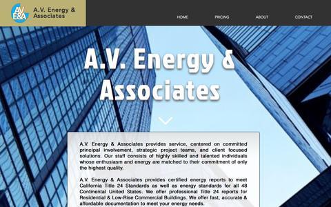 Screenshot of Home Page avenergy-title24.com - avenergy - captured Oct. 4, 2017