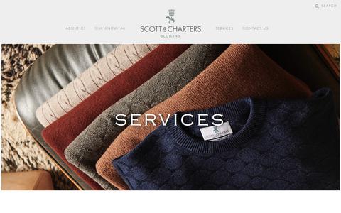 Screenshot of Services Page scottcharters.com captured Sept. 25, 2018