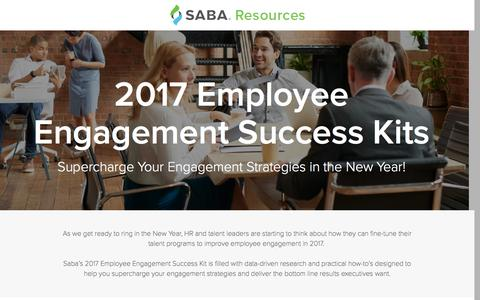 Screenshot of Landing Page saba.com - 2017 Employee Engagement Success Kit - captured April 27, 2017