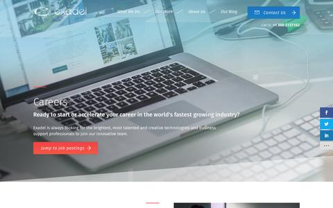 Screenshot of Jobs Page exadel.com - Careers | About | Exadel - captured May 23, 2017