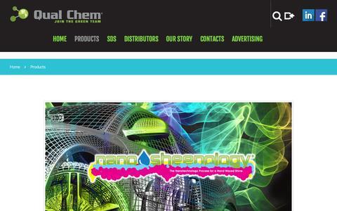 Screenshot of Products Page qualchem.biz - Products  |  Car wash chemicals at Qual Chem - captured Nov. 21, 2015