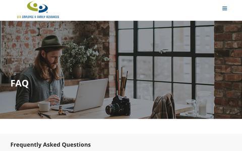 Screenshot of FAQ Page efr.org - FAQ - Employee & Family Resources - captured Nov. 10, 2018