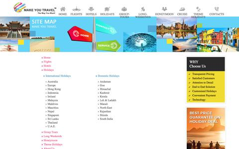 Screenshot of Site Map Page makeyoutravel.com - Make You Travel  - The Way You Want - captured Oct. 5, 2017