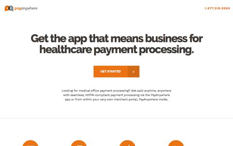 Screenshot of Landing Page payanywhere.com - Healthcare PPC | PayAnywhere - captured Aug. 15, 2018