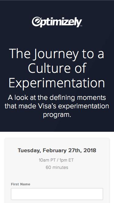The Journey to a Culture of Experimentation
