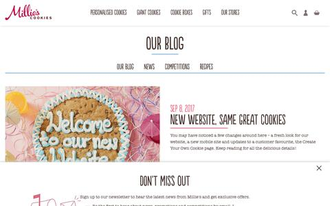 Screenshot of Blog milliescookies.com - Our blog - captured June 8, 2018