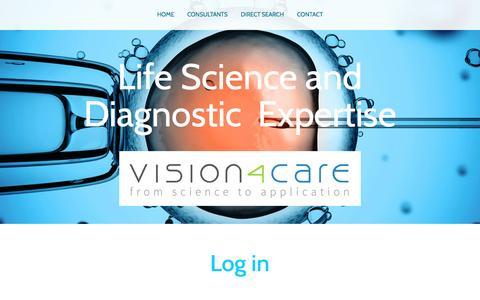 Screenshot of Login Page vision4care.com - Log in - vision4care - captured Dec. 21, 2016