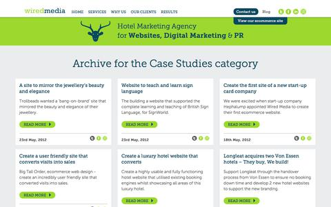 Screenshot of Case Studies Page wiredmedia.co.uk - Case Studies Archives - Wired Media - captured July 27, 2017