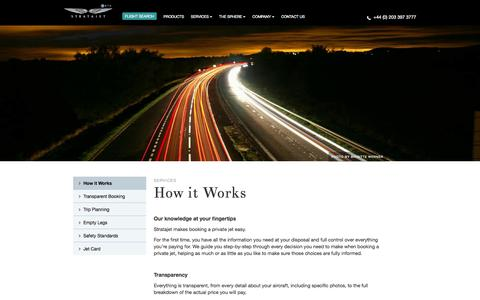 Screenshot of Services Page stratajet.com - Search, Compare & Book Online | Private Jet Charter | Stratajet - captured Oct. 26, 2014