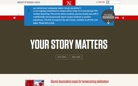 Screenshot of Home Page unl.edu - University of Nebraska–Lincoln - captured Sept. 18, 2014