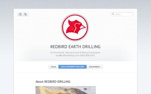 Screenshot of About Page tumblr.com - REDBIRD Earth Drilling - About REDBIRD DRILLING - captured Sept. 11, 2014
