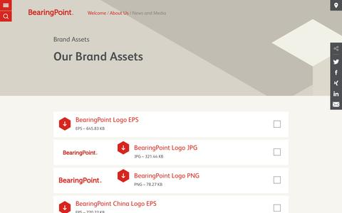 Screenshot of Press Page bearingpoint.com - Brand Assets | BearingPoint - captured Oct. 10, 2017