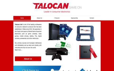 Screenshot of Home Page talocanltd.com - Talocan Ltd | Consumer electronics, game consoles, mobile phones - captured Oct. 19, 2017