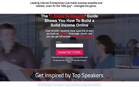 Screenshot of Landing Page pagewiz.net captured April 12, 2017