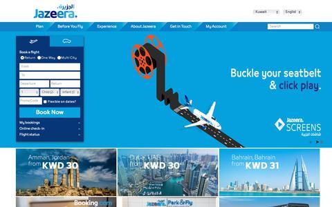 Screenshot of Home Page jazeeraairways.com - Flight Tickets & Flight Offers - Book Online   Jazeera Airways - captured Nov. 6, 2018