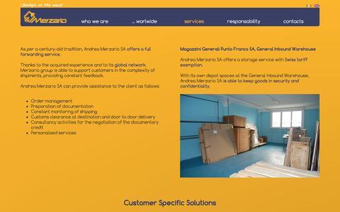 Screenshot of Services Page andreamerzario.com - Services - captured Nov. 17, 2016