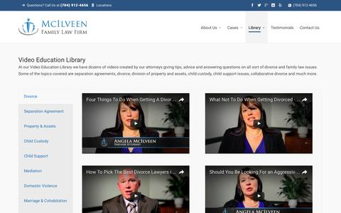 Video Education Library | Charlotte NC Divorce Lawyer & Family Law Attorneys - McIlveen Family Law