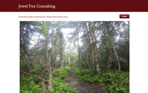Screenshot of Home Page jewelfoxconsulting.com - Jewel Fox Consulting - Home - captured Sept. 20, 2018