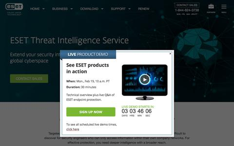 ESET Threat Intelligence | ESET