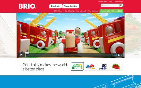 Screenshot of Home Page brio.us - Start - BRIO - captured July 6, 2018