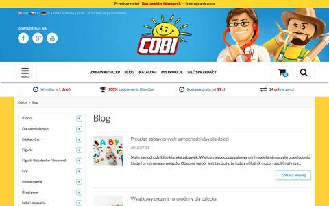 Screenshot of Blog cobi.pl - Blog  - Sklep z zabawkami Cobi.pl - captured Sept. 25, 2018