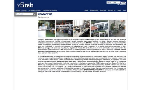 Screenshot of About Page stab-italia.com - STAB | Contact Us - captured June 1, 2016