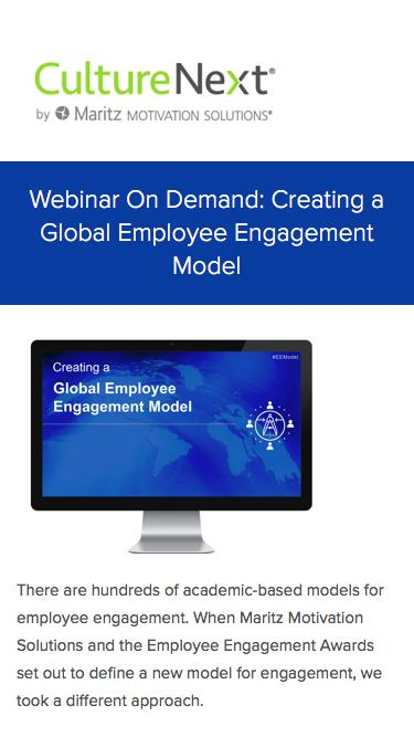Creating a Global Employee Engagement Model