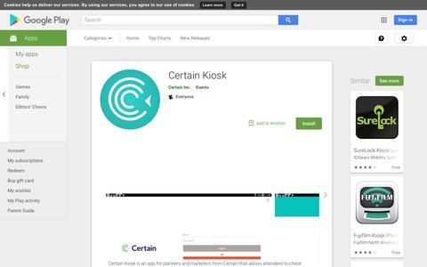 Certain Kiosk - Apps on Google Play