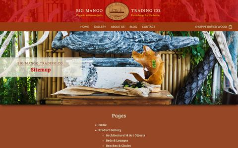 Screenshot of Site Map Page bigmangotrading.com - Sitemap – Big Mango - captured Oct. 5, 2018