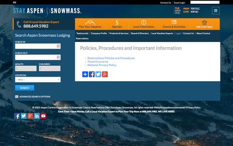 Screenshot of Terms Page stayaspensnowmass.com - Policies, Procedures and Important Information | Stay Aspen Snowmass - captured Sept. 23, 2014