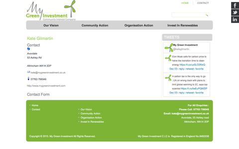 Screenshot of Contact Page mygreeninvestment.com - Contact - My Green Investment - captured Dec. 5, 2015