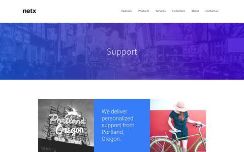 Screenshot of Support Page netx.net - Support - Digital Asset Management Software | NetX - captured Oct. 21, 2017