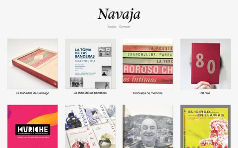 Screenshot of Home Page navaja.org - Navaja - captured Nov. 11, 2016