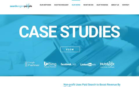 Screenshot of Case Studies Page searchenginepeople.com - Case Studies Digital Marketing Agency Success Stories - captured March 13, 2017