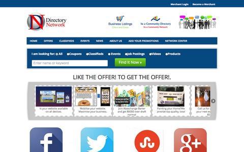 Screenshot of Home Page directorynetwork.com.au - Directory Network Directory - Find Local Directory Networks - Trusted Directory Network Reviews - captured Sept. 24, 2014
