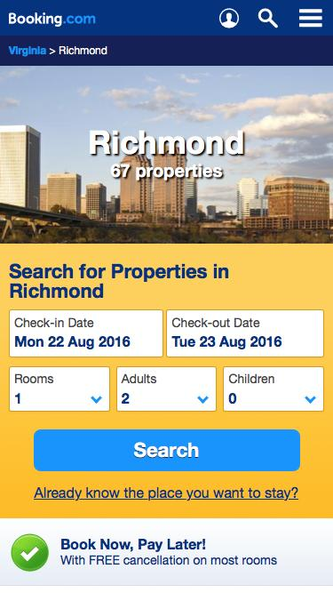 67 Hotels in Richmond, USA - Best Price Guarantee - Booking.com