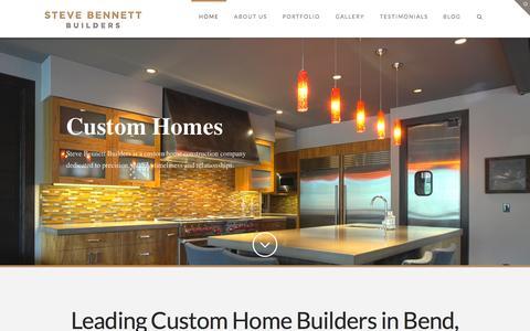 Screenshot of Home Page stevebennettbuilders.com - Custom Home Builders in Bend Oregon | Steve Bennett Builders - captured Aug. 15, 2015