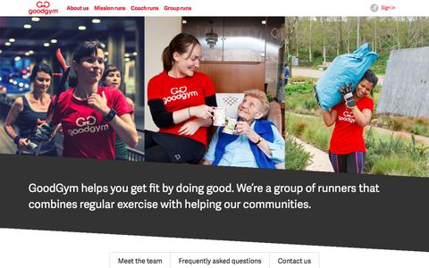 GoodGym | About