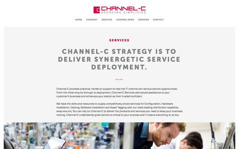 Screenshot of Services Page channel-c.com - Services – Channel-C : Independent distributor of IT hardware - captured July 24, 2017