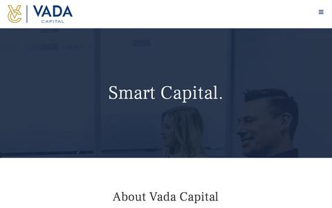 Screenshot of About Page vadacapital.com - About – Vada Capital - captured Oct. 20, 2018
