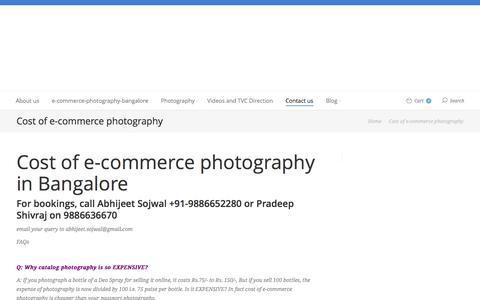 Screenshot of Contact Page g16studios.com - E-commerce Photography   Cost of e-commerce photography - captured June 12, 2016