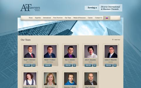 Screenshot of Team Page atlawyers.com - Our Team | Alimirzoev & Trofimov Law Firm - captured Oct. 4, 2014