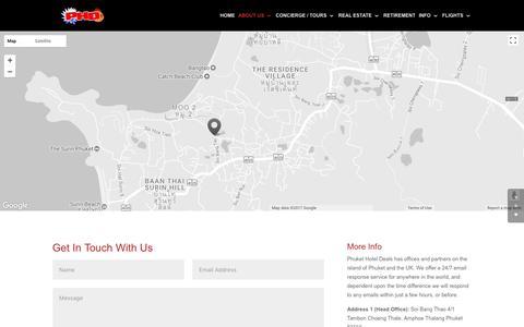 Screenshot of Contact Page hoteldealsphuket.com - Contact Us   Phuket Hotel Deals - captured Oct. 22, 2017